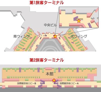 SIM販売機 設置場所 成田空港