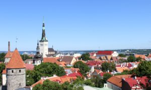エストニアの首都タリンの旧市街